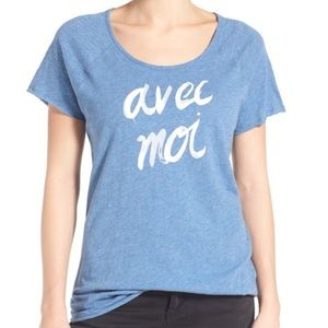 Vince Camuto Avec Moi Graphic Tee